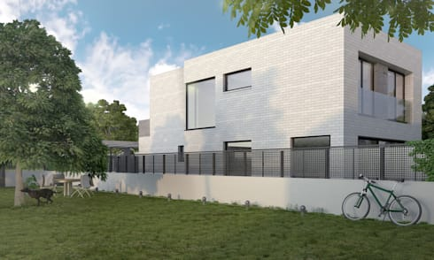 Exterior 3D vivienda:  de estilo  de Icaras 3D