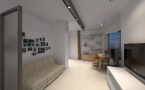 LT's RESIDENCE: minimalistic Living room by arctitudesign