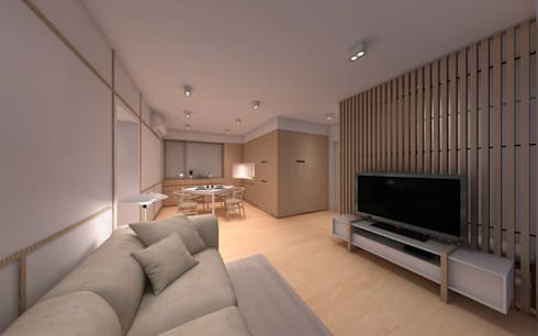 SL's Residence: minimalistic Living room by arctitudesign