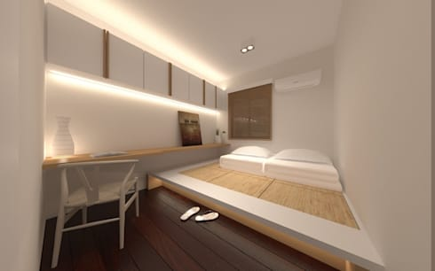 SL's Residence: asian Bedroom by arctitudesign