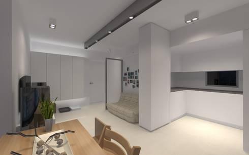 LT's RESIDENCE: minimalistic Kitchen by arctitudesign