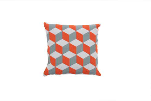 Pentreath & Hall Falling Cubes - Orange and Grey: modern Living room by Fine Cell Work