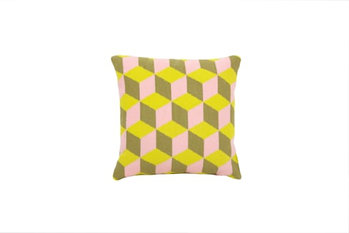 Pentreath & Hall Falling Cubes - Pink and Yellow: modern Living room by Fine Cell Work