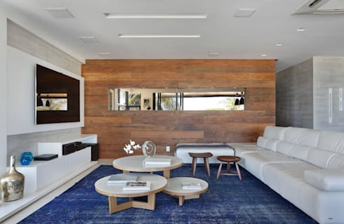 Projeto de decoração de sala: Salas de estar modernas por Leila Dionizios Arquitetura e Luminotécnica