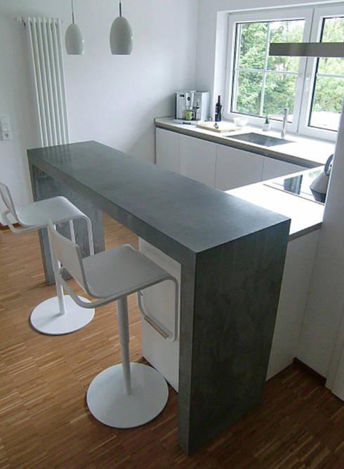 Küchentheke küchentheke beton by plancbetoninterior homify