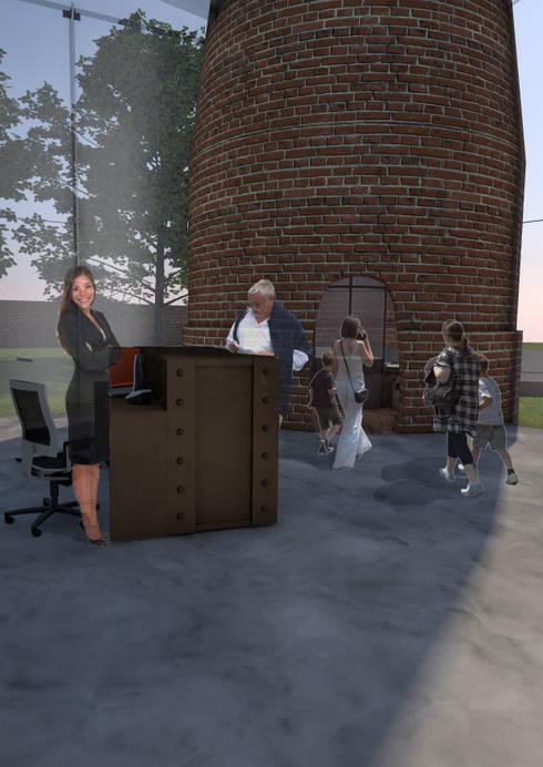Reception desk/information point in extension:   by Interior Design Graduate