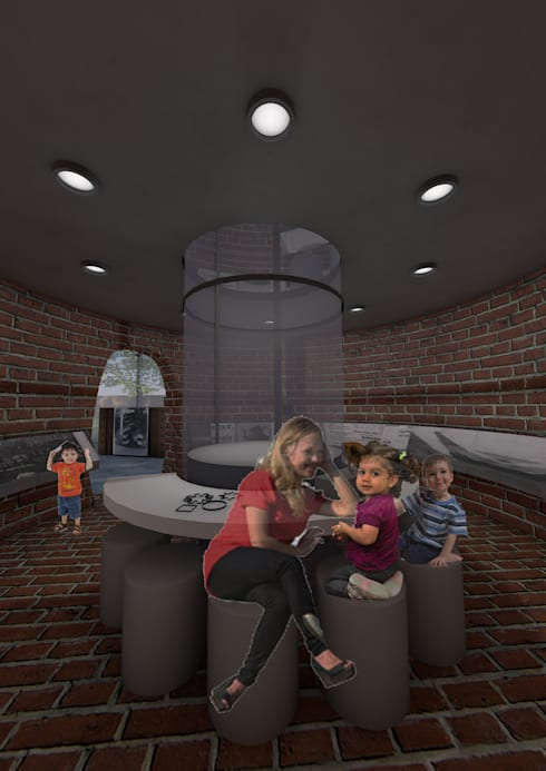 Heritage Kiln 3 Ground level:   by Interior Design Graduate