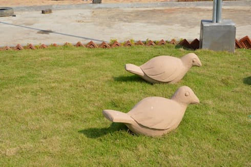 Art project for  Indian oil residential complex at Bolpur, west Bengal, India :  Artwork by mrittika,  the sculpture