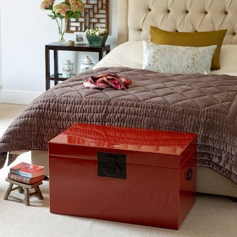 Deep Red Lacquer Storage Trunk: asian Bedroom by Orchid