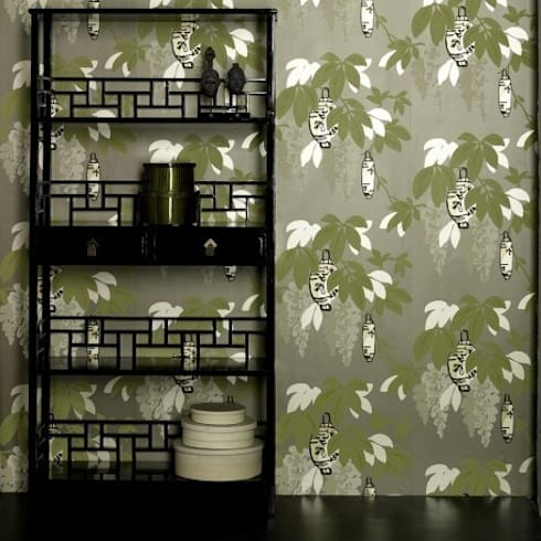 Brown Lacquer Bookcase With Two Drawers: asian Bedroom by Orchid