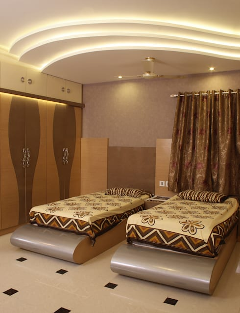 Parents Room: modern Bedroom by Hasta architects