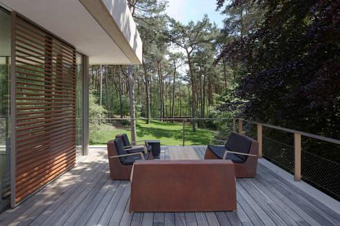Terras: moderne Tuin door HILBERINKBOSCH architecten