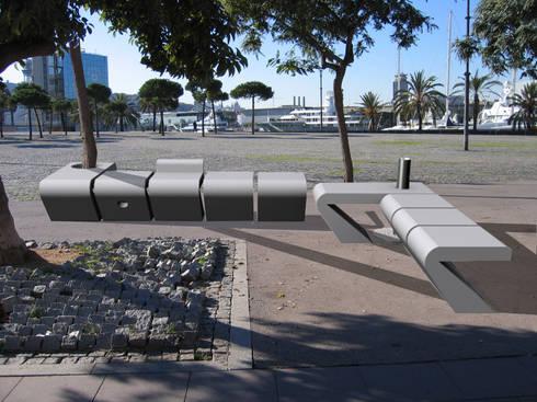 ModulART - MOBILIARIO URBANO : Jardín de estilo  de KATWIN