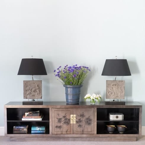 Silver Leaf Media Unit: asian Living room by Orchid