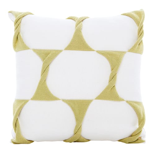 Twist Cushion - Cream Celery:  Household by From Brighton With Love