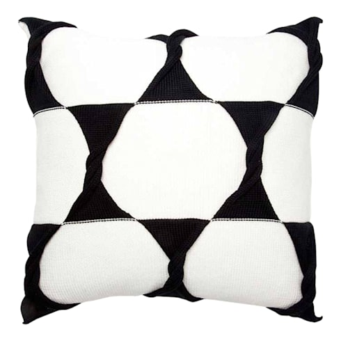 Twist Cushion - Cream / Jet:  Household by From Brighton With Love