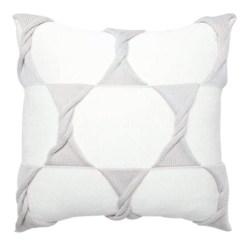 Twist Cushion - Cream / Silver:  Household by From Brighton With Love