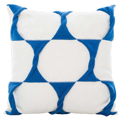 Twist Cushion - Cream / Marine:  Household by From Brighton With Love