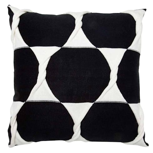 Twist Cushion - Jet:  Household by From Brighton With Love
