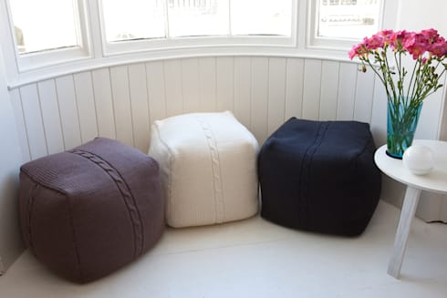 Chunky Cable Pouf:  Household by From Brighton With Love