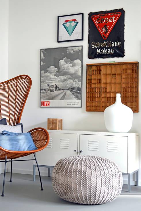 Salones de estilo industrial de Kristina Steinmetz Design