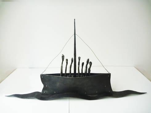 """Leaving St Kilda"":  Artwork by James Newton Adams"