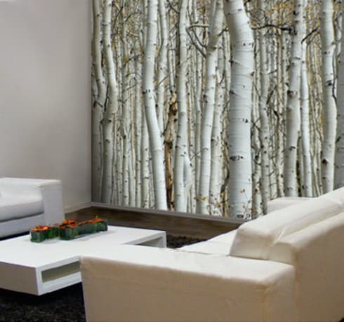 Inspiratie natuurlijke muurdecoratie:  Muren & vloeren door Muurmode