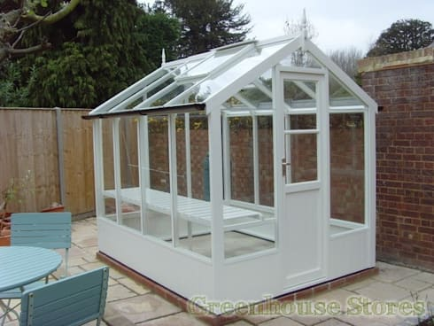 Swallow Kingfisher 6x8 Wooden Greenhouse:  Garden  by Greenhouse Stores