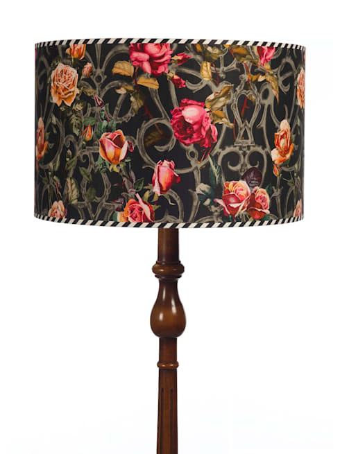 Rose Trellis Shade: eclectic Living room by Emily Humphrey Design