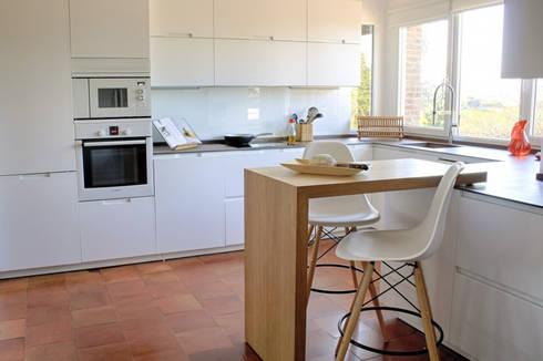 Vivienda STO DOMINGO_Madrid 1#: Cocinas de estilo moderno de Calizza Interiorismo