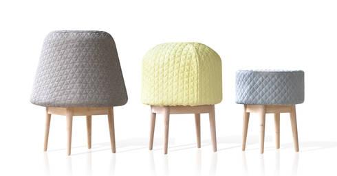 BOUNCE family: moderne Woonkamer door Product Design - Véronique Baer