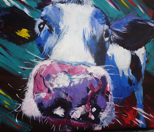 Cheeky Cow:  Artwork by Marilyn Allis
