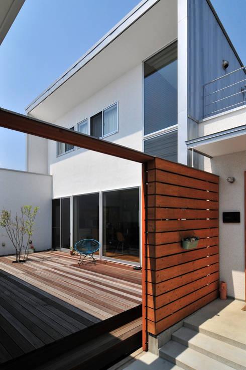 Casas de estilo  por 島田博一建築設計室