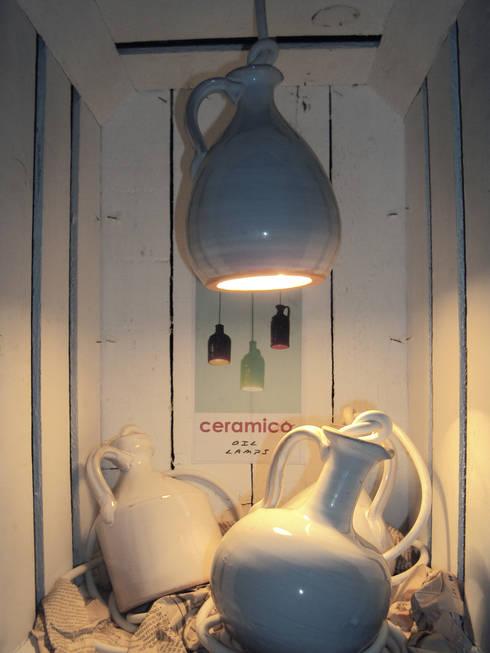 olilamps: Soggiorno in stile in stile Eclettico di Arianna Vivenzio
