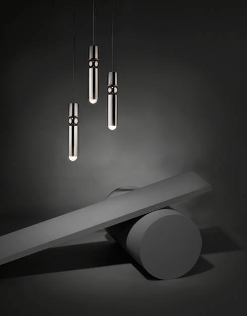 Fulcrum Light:  Living room by Lee Broom
