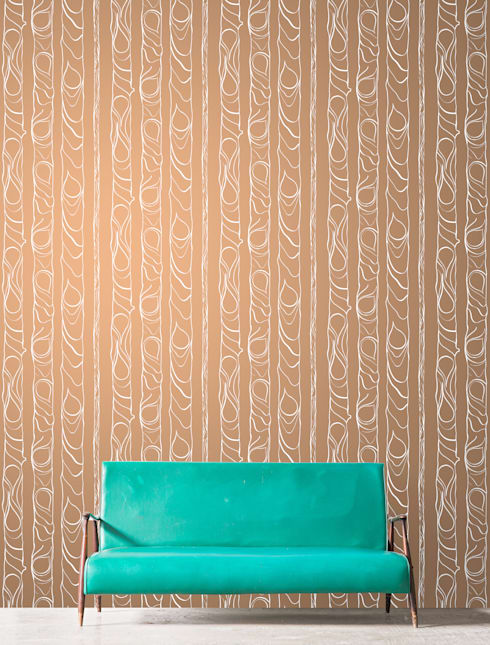 Zhivago wallpaper 'copper':  Walls & flooring by NAT MAKS