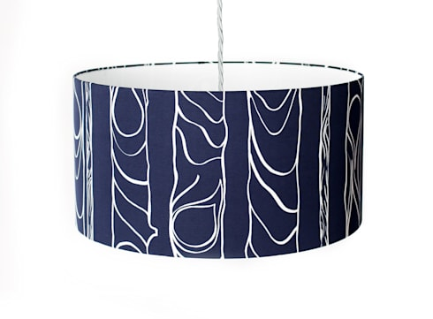 Zhivago lampshade 'midnight': modern Living room by NAT MAKS