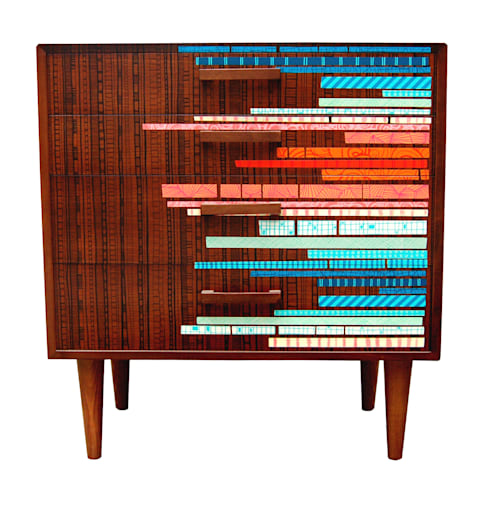 Zoe Murphy- Margate Drawers- Ltd edition: eclectic Living room by Zoe Murphy
