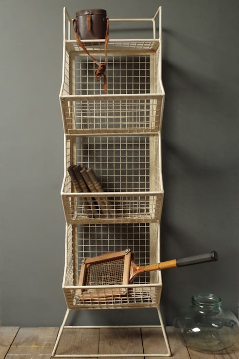 Wire 3 Tier Storage Rack: industrial Living room by Vincent and Barn