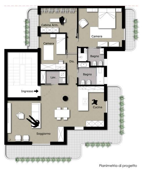 Casa BT:  in stile  di Laboratorio di Progettazione Claudio Criscione Design