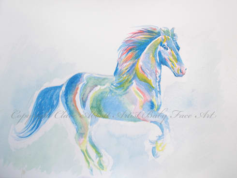 Galloping Rainbows:  Artwork by Baby Face Art