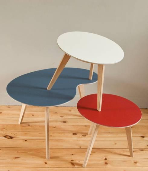 Les tables basses NUBES: Salon de style de style Scandinave par Osmose le bois