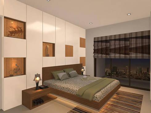s k designs - contemporary residence in Andheri: modern Bedroom by S K Designs