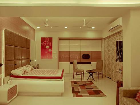 s k designs - contemporary residence in Andheri:  Bedroom by S K Designs