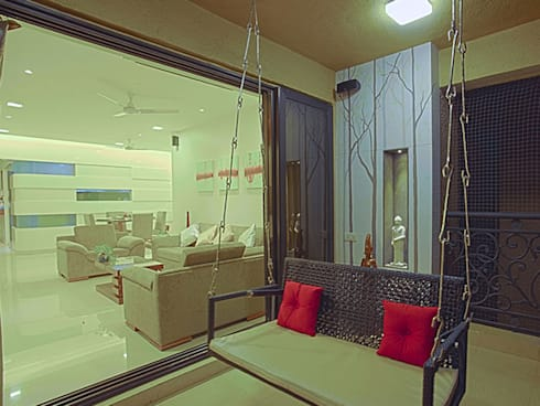 s k designs - contemporary residence in Andheri:  Terrace by S K Designs