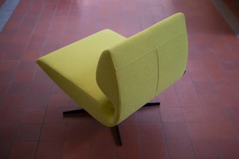 Lounge chair Luna: moderne Woonkamer door B crea