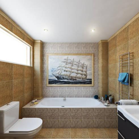 Master Bathroom:  Bathroom by Hampstead Design Hub