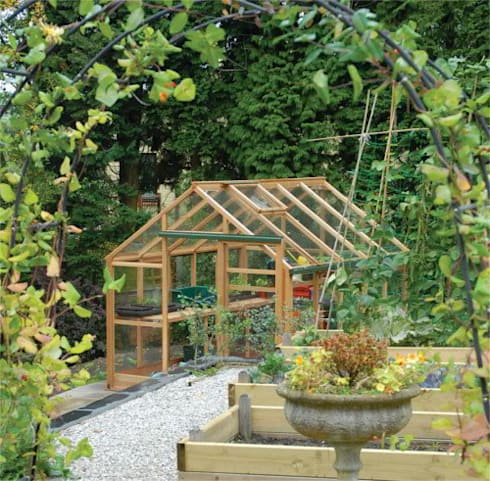 8x10 Cedar Growhouse Greenhouse:  Garden  by Greenhouse Stores