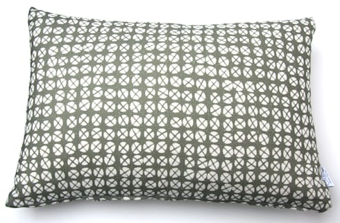 Plot to Plate XO oblong cushion by Kate Farley: modern Living room by Kate Farley