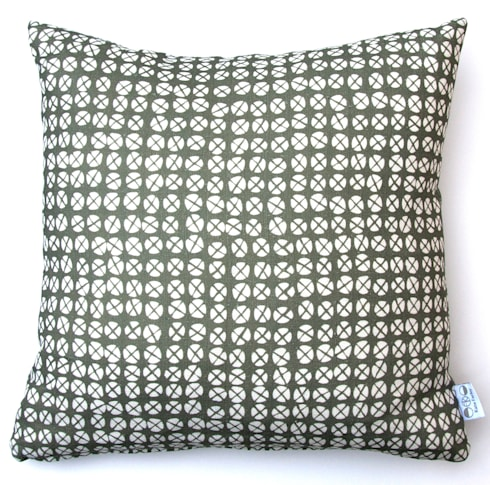 Plot to Plate XO square cushion by Kate Farley: modern Living room by Kate Farley